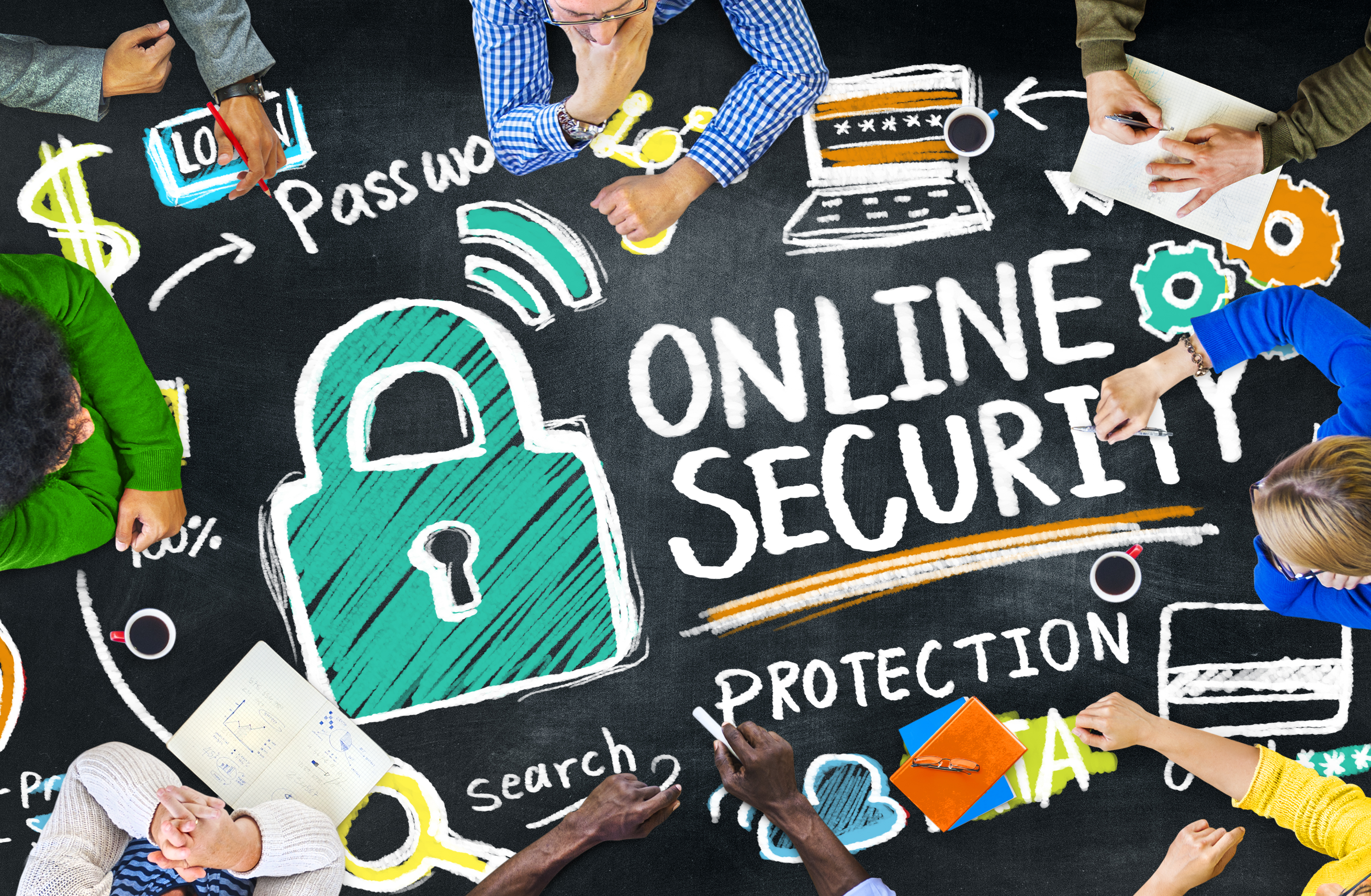 Online Security Protection Internet Safety Education Learning Concept