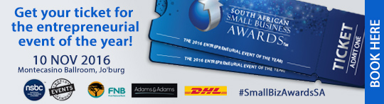 Book to attend the South African Small Business Awards
